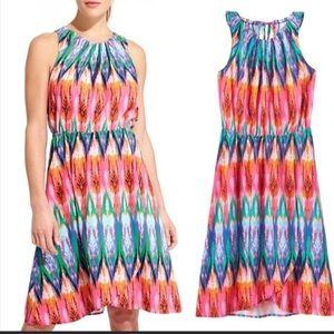 Athleta Colorful Ikat Martinique Tank Dress